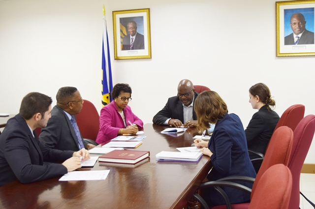 CCI and the OAS Representative pay a  Courtesy call on the Hon. Adriel Brathwaite  Attorney General and Minister of Home Affairs, Oct 25 2017