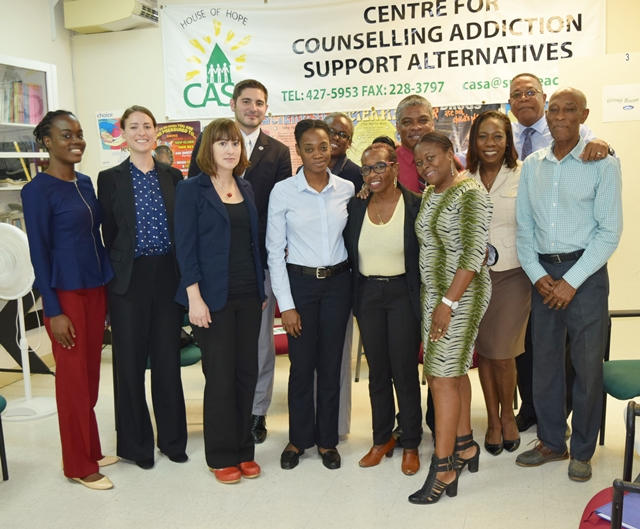 CCI Team and OAS Representative make an evaluation visit to the Centre for Counselling Addiction Support Alternatives and meet  with Director Mr. Orlando Jones, Oct 25  2017
