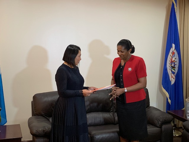 New OAS Representative - Lilly Ching Soto presents Letter of Credence