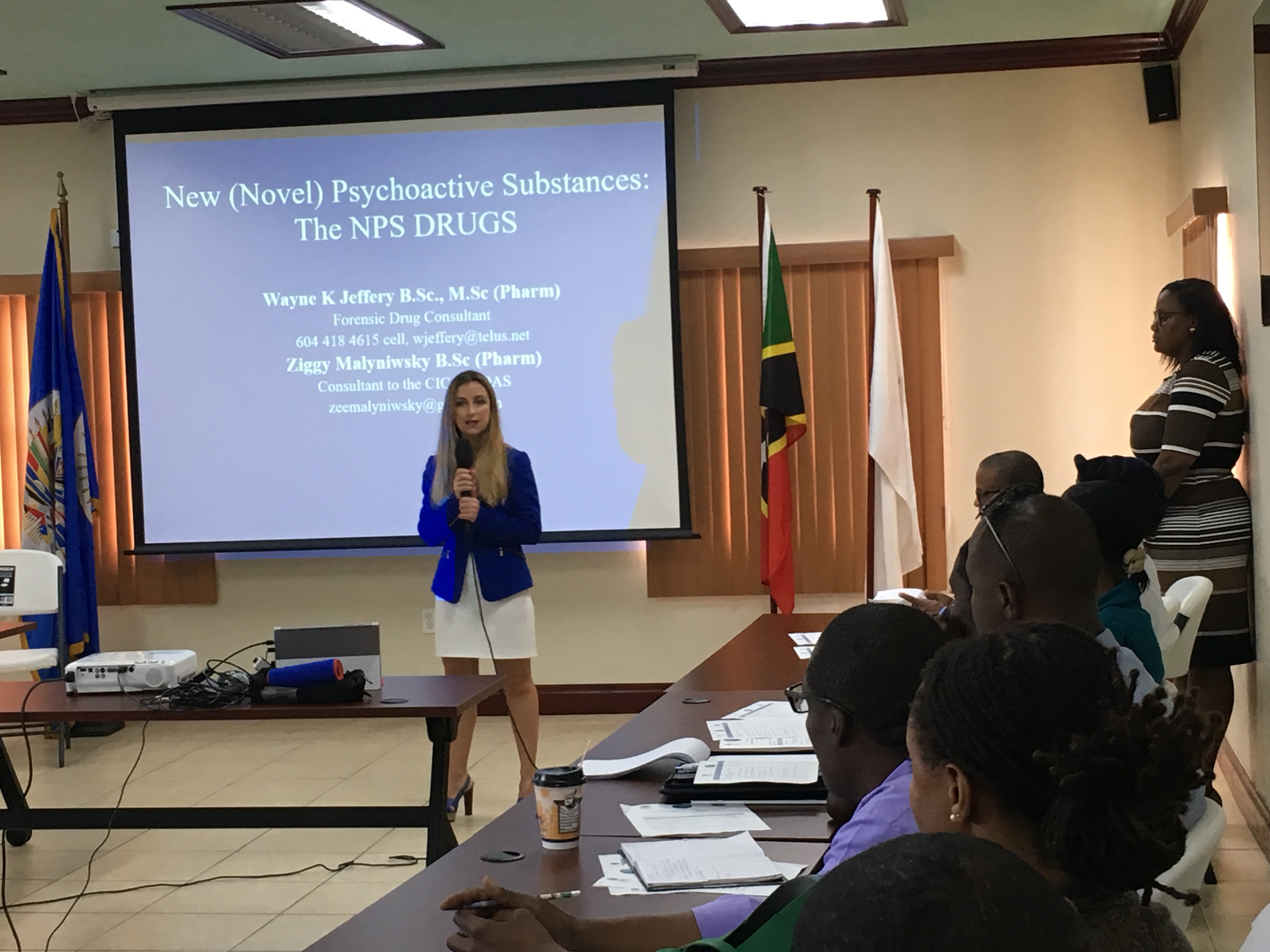 OAS/CICAD Seminar on the Control of Chemicals Used In The Producation Of Illicit Drugs and Synthetic Drugs held in St Kitts and Nevis - April 3-5, 2018