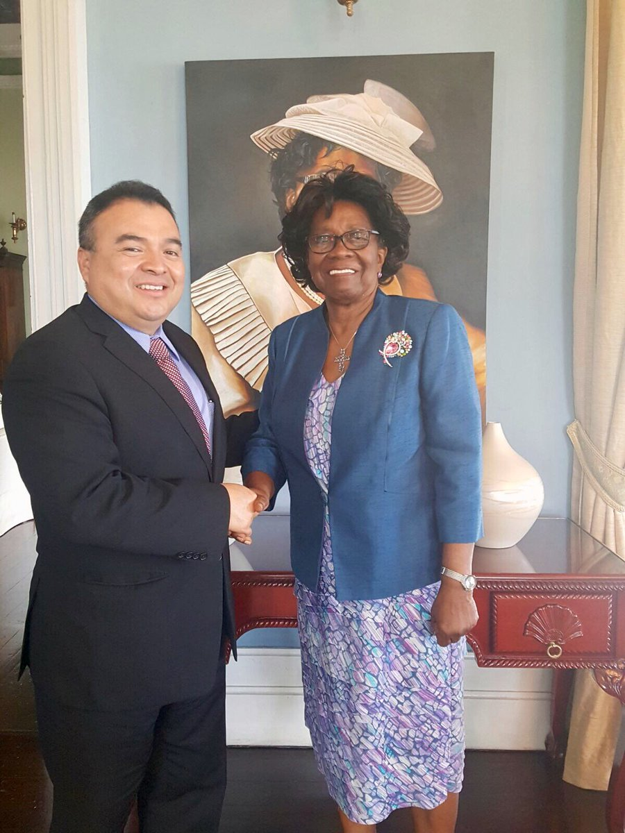 OAS-ASG Mendez pays Courtesy Call on Saint Lucia's Governor-General