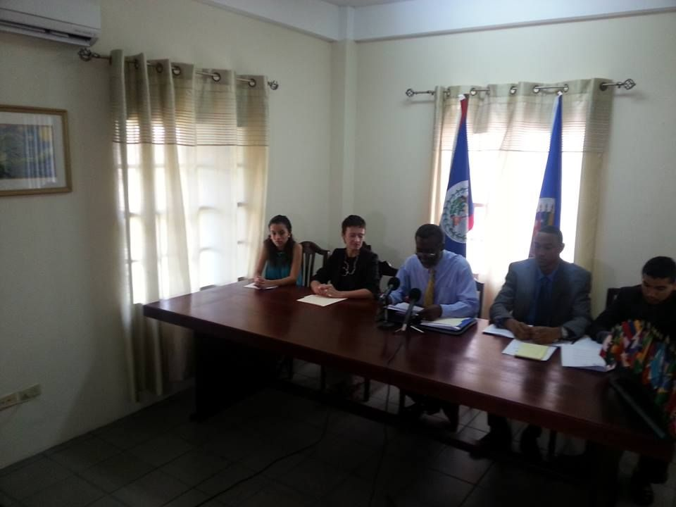 Press Conference - Galen University Students who participated in the 33rd MOAS in St. Kitts and Nevis