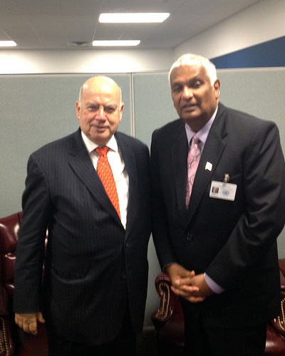 SG Insulza meets the Minister of Foreign Affairs of Trinidad and Tobago on the margins of the 67th Regular Session of the United Nations in New York