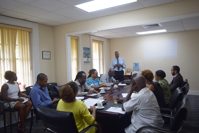 Mr. Francis McBarnette, OAS Barbados Representative made remarks at the  Vlll Summit of the Americas, Democratic Governance against Corruption, National Consultation with Civil Society and Social Actors, at the OAS Barbados Office, October 23, 2017.