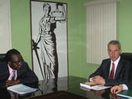 The Rapporteur on the Rights of Persons Deprived of Liberty of the IACHR, Rodrigo Escobar Gil, offers a workshop on Principles and Best Practices during his visit to Suriname in May 2011