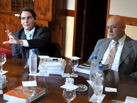 The Rapporteur on the Rights of Persons Deprived of Liberty, Rodrigo Escobar Gil, meets authorities of the Servicio Penitenciario Bonaerense during the visit to Argentina in June 2010.