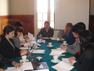 The IACHR delegation at the Foreign Ministry of Bolivia on June 9, 2008