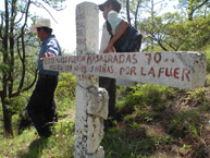 The site where one of the massacres against the Río Negro community took place, and where a clandestine grave was located.