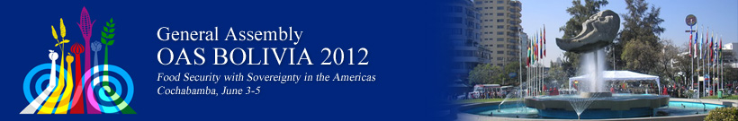 Forty-Second Regular Session of the OAS General Assembly - Bolivia 2012